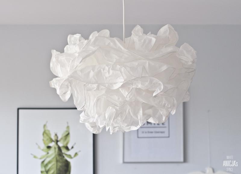 Anicja 39 s white space tymczasowa lampa czyli dopieszczam for Ikea cuscino nuvola