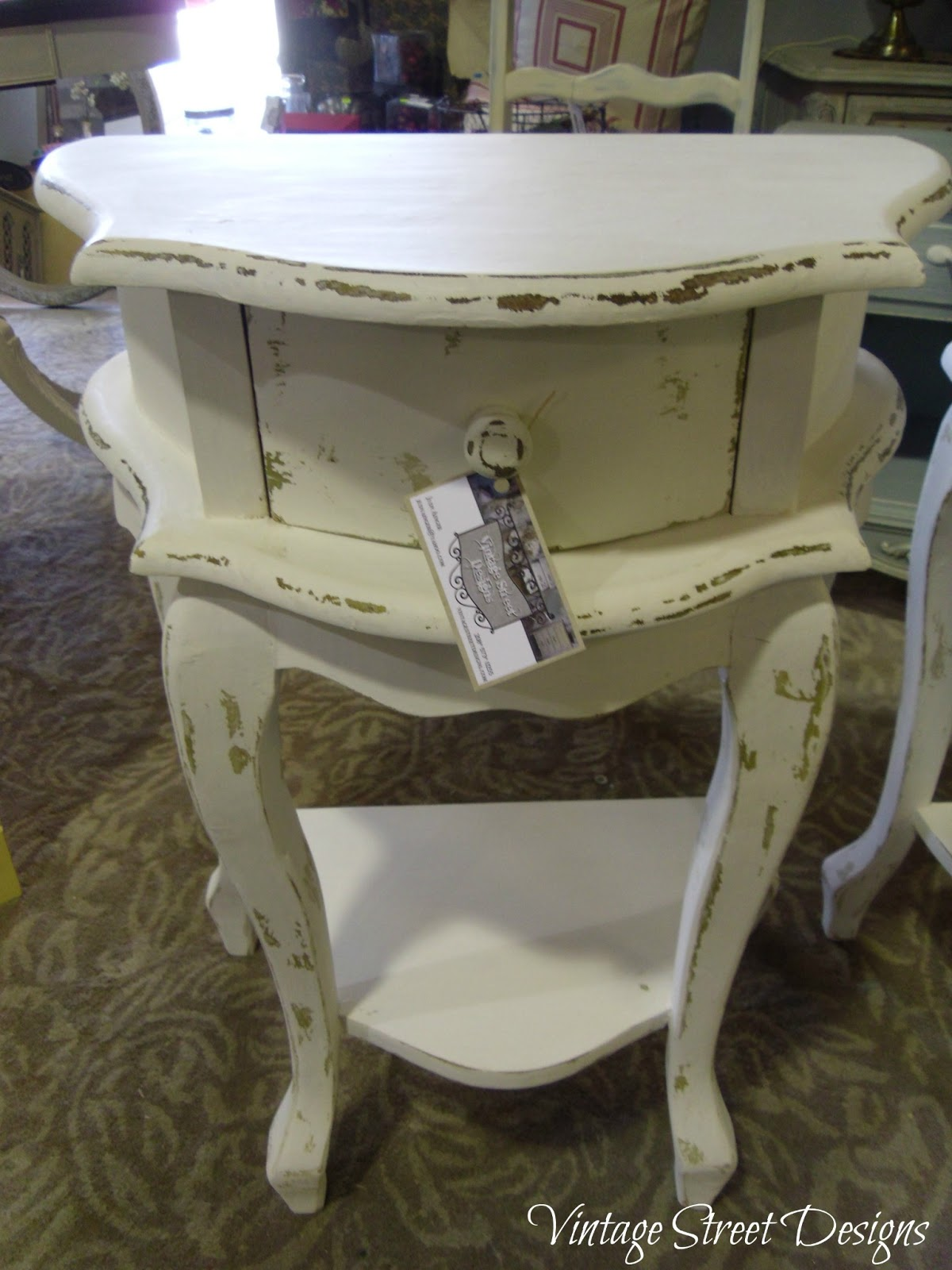 shabby chic end tables. Black Bedroom Furniture Sets. Home Design Ideas
