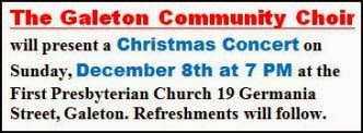 12-8 Galeton Christmas Choir Concert