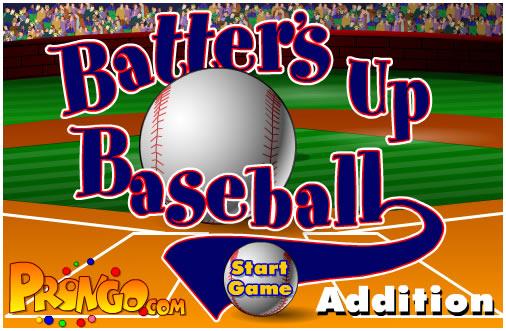 Ball Game : Batter's Up Base Ball Math - Addition Edition