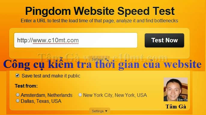 Tools Pingdom Website Speed Test - Kiểm tra tình trạng website