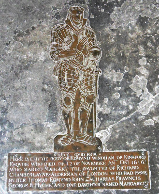 Tomb from 1616 within St Decuman's Church