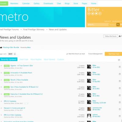 Skin Metro Premium On IP. Board