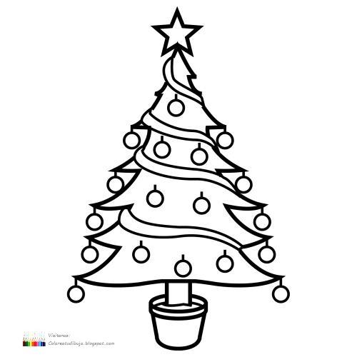 Colorea tus dibujos rbol navide o para imprimir y colorear for Arbol navideno para colorear