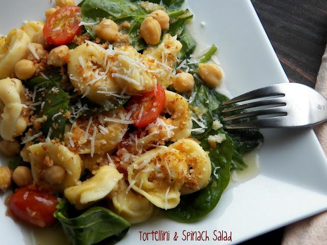 Comfy Cuisine: Tortellini & Spinach Salad