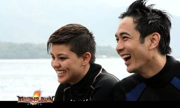 Slater Young and Divine Maitland-Smith in Matanglawin Dolphin Adventure