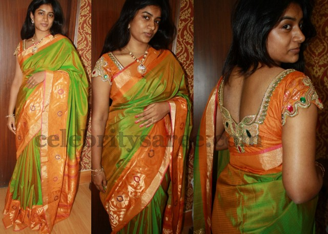Pythani Saree with Work Blouse