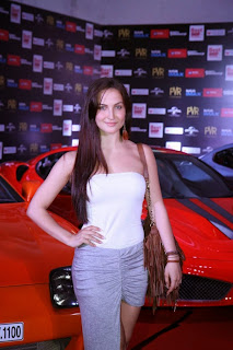 Elli Avram looks so cute in a Revealing dress at Fast and Furious 7 Premiere at PVR Mumbai