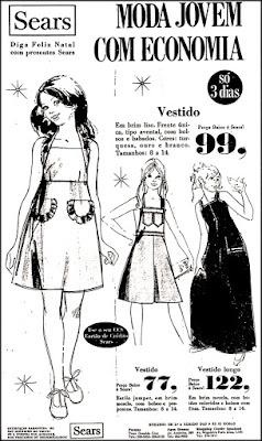 sears, 1975, moda anos 70. propaganda decada de 70. reclame anos 70. Oswaldo Hernandez.