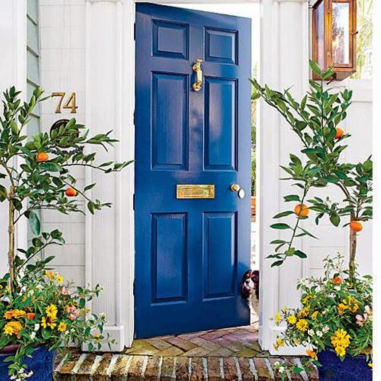 Ciao newport beach color inspiration cobalt blue Gray front door meaning