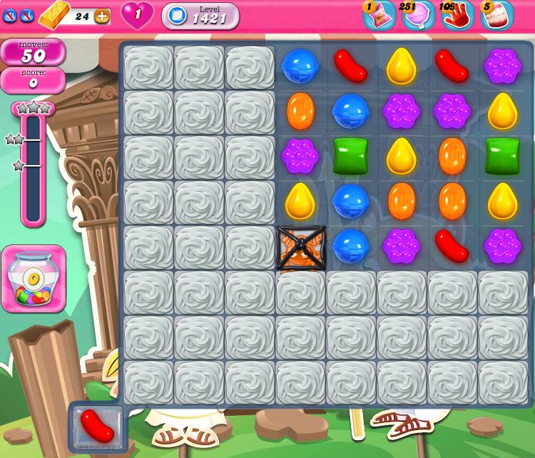 Candy Crush Saga 1421