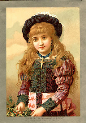 Старый Свет Рождества Изображение - Девушка с Холли