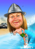 caricature of a surfer