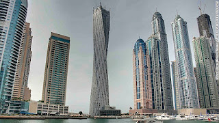 menara tertinggi memutar didunia Cayan Tower