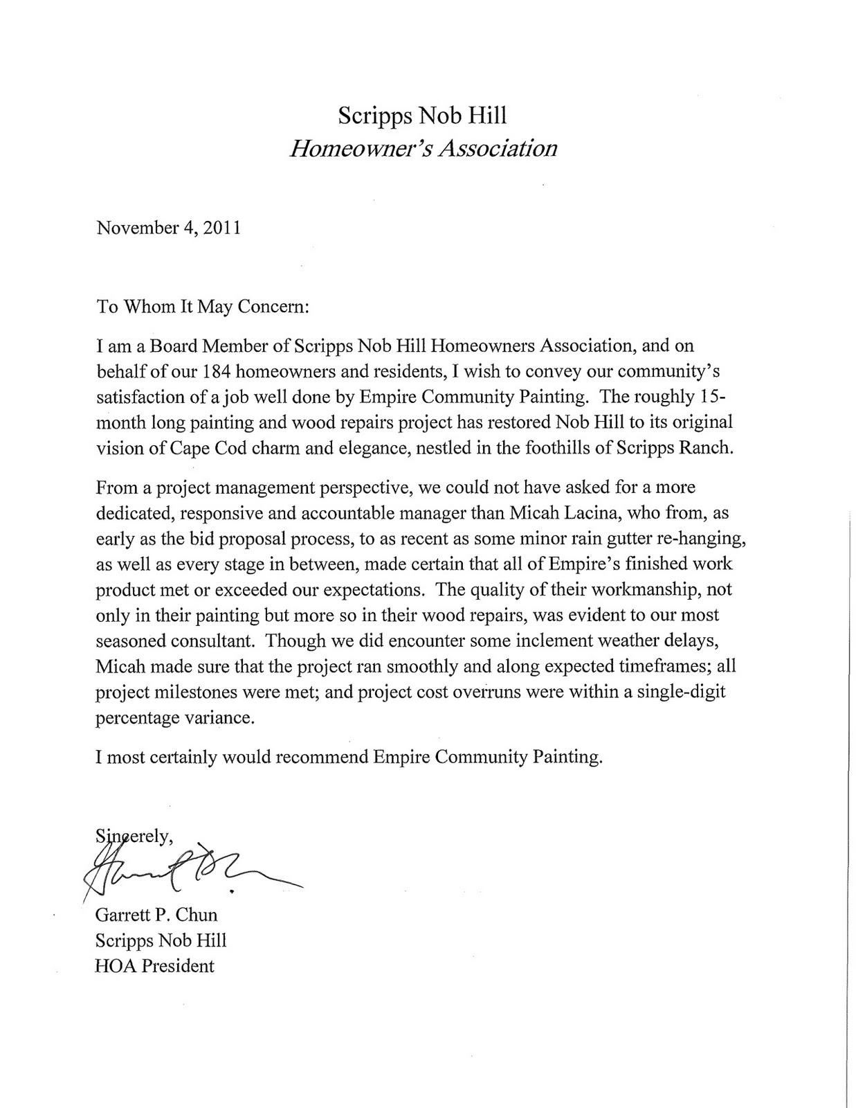 Sample Letter To Homeowners Association Requesting. That Edgewater ...
