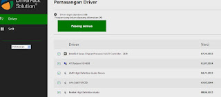Cara Instal atau Update Driver Laptop atau Komputer Window xp win7 win8 dengan Driverpack Solution V16