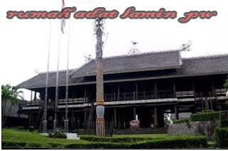 Keberagaman dan keunikan rumah adat di Indonesia yang terkenal di mata dunia,Rumah Adat Lamin Kalimantan Timur
