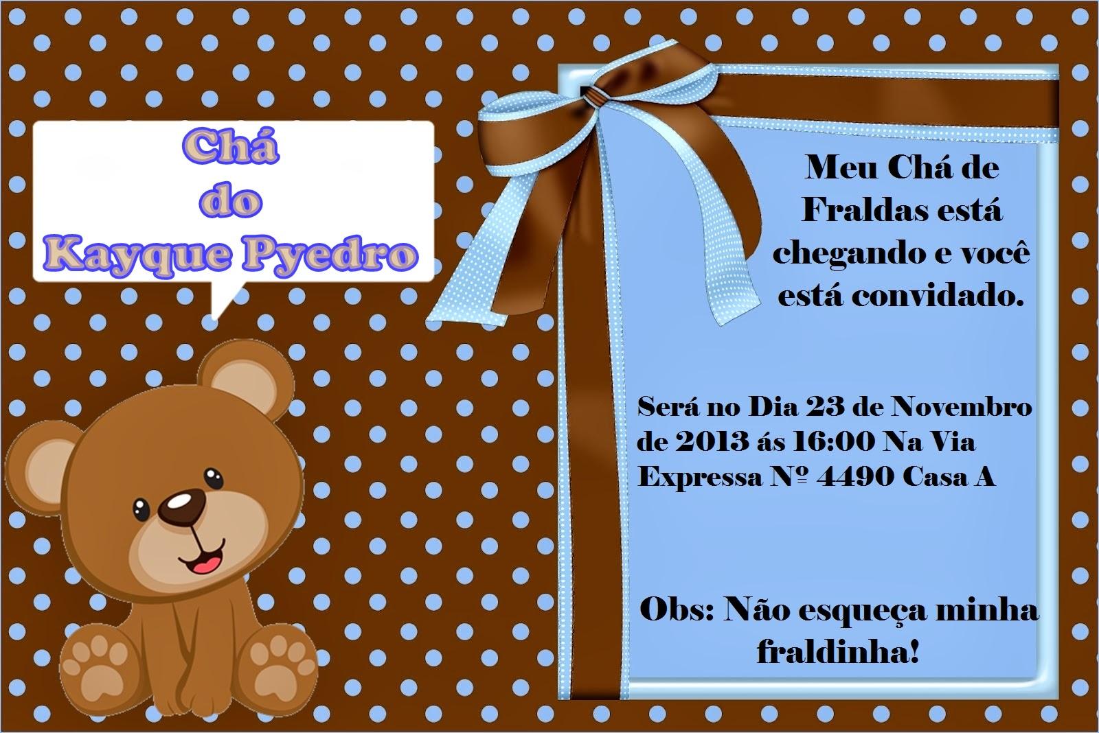 Balas Mimos E Balões Convite Chá De Fraldas