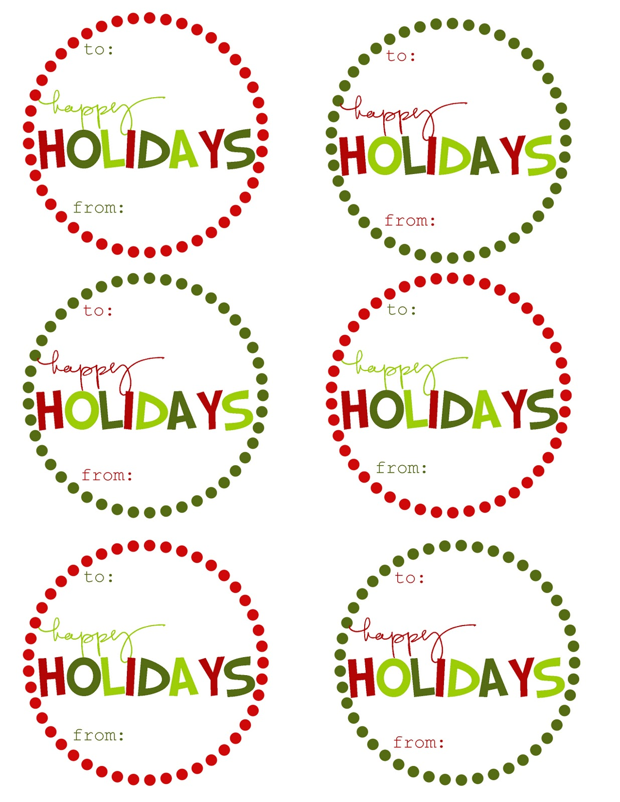 Simplicity image with holiday tags printable