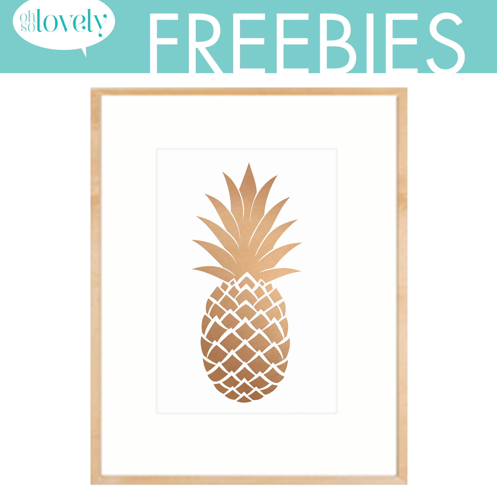 image relating to Free Printable Pineapple referred to as free of charge pineapple printables insert some entertaining in the direction of your house decor!