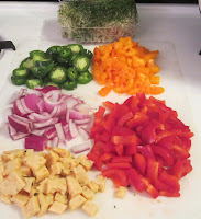 Keto salad ingredients