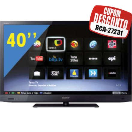 Cupom Efácil - TV 40 3D LED Sony Bravia FULL HD KDL-40EX725