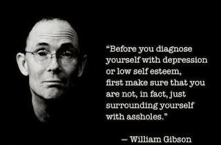 Necromancer author William Gibson depression quote meme