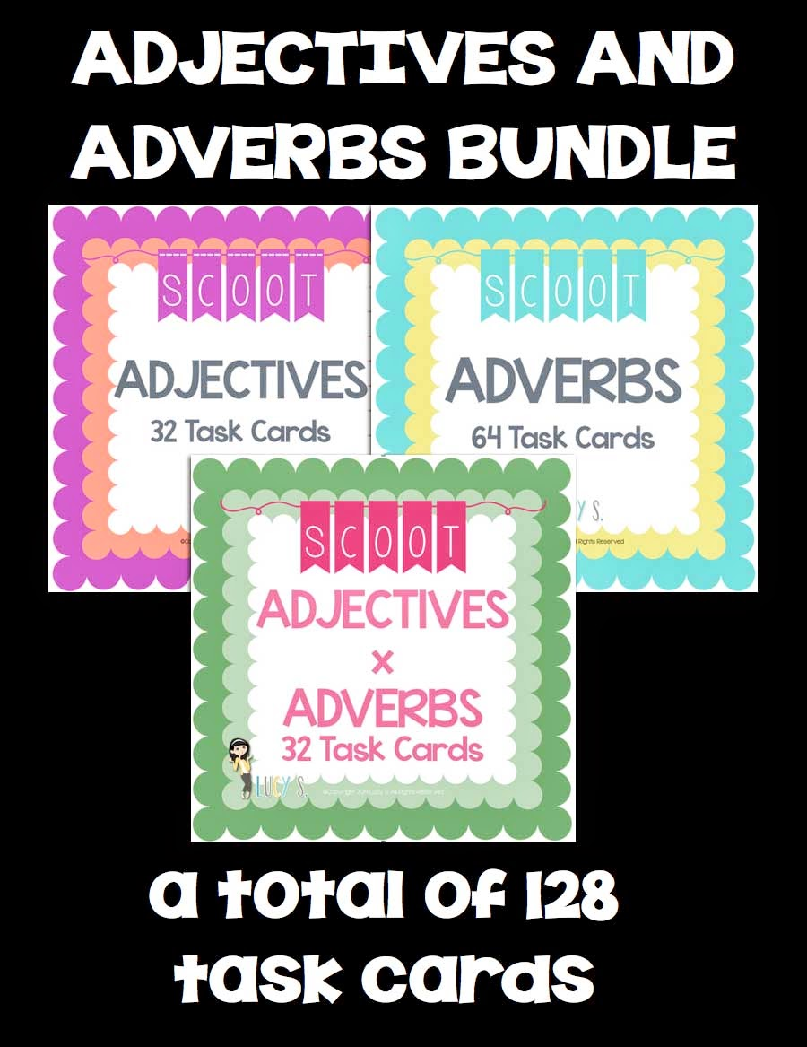 Adjectives and Adverbs SCOOT Bundle - 128 Task Cards