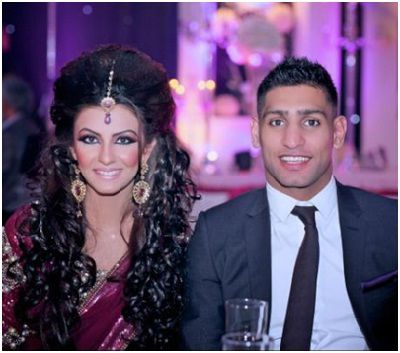 Boxing champ Amir Khan and Faryal Makhdoom Marriage Photos