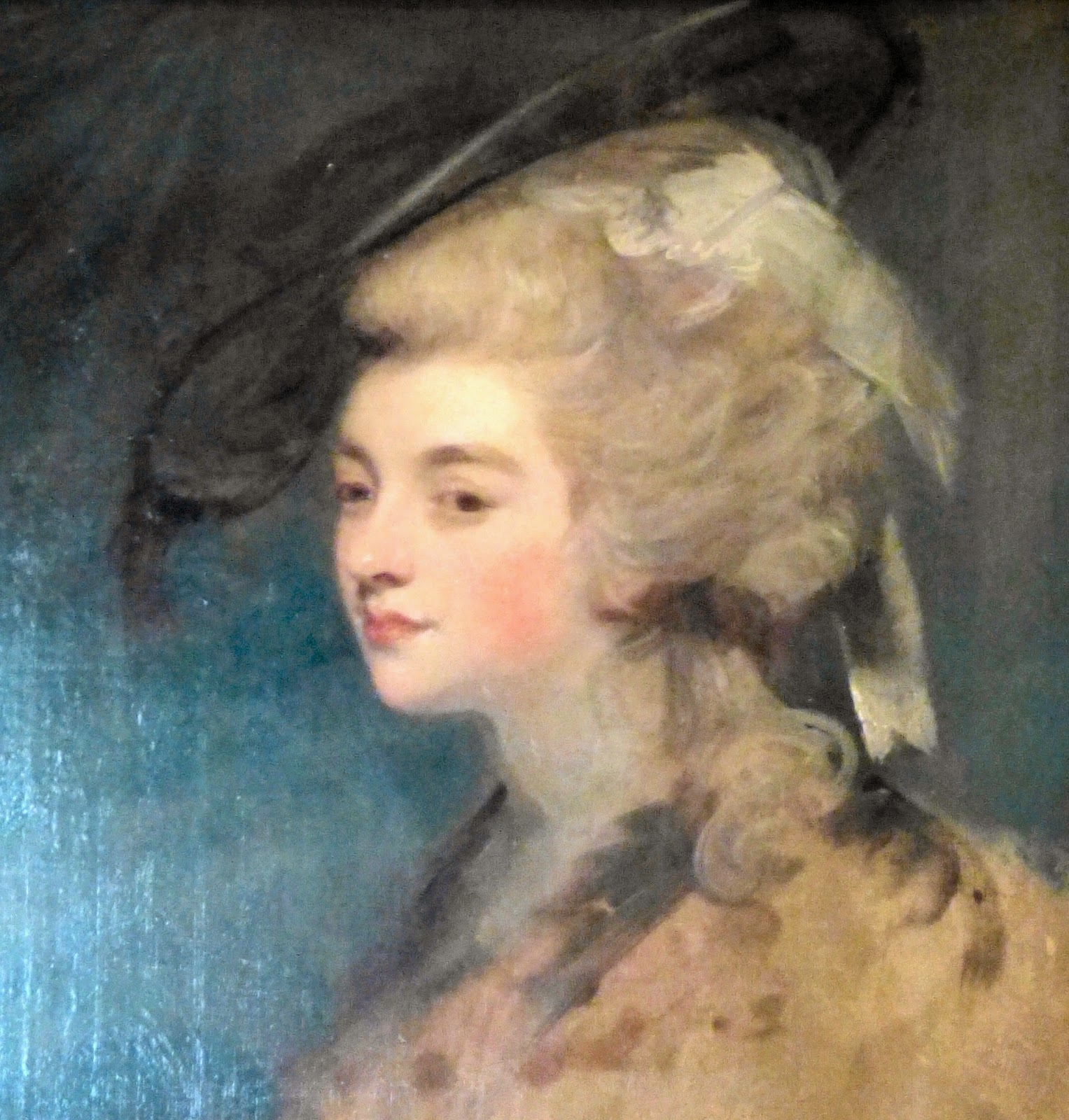 Georgiana Cavendish, Duchess of Devonshire,  detail from a painting at Chatsworth House