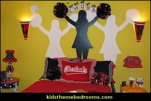 Decorating theme bedrooms maries manor gymnastic for Cheerleading decorations
