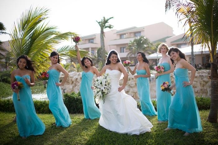 tiffany blue bridesmaid dress