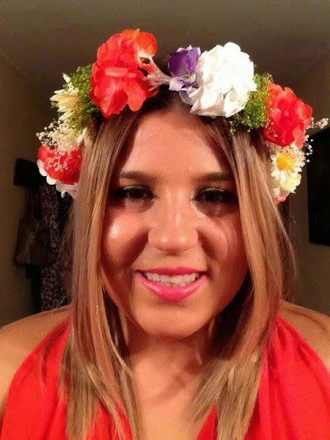corona de flores, corona de flores para boda, corona de flores para el pelo, tonos coral, coronas baratas