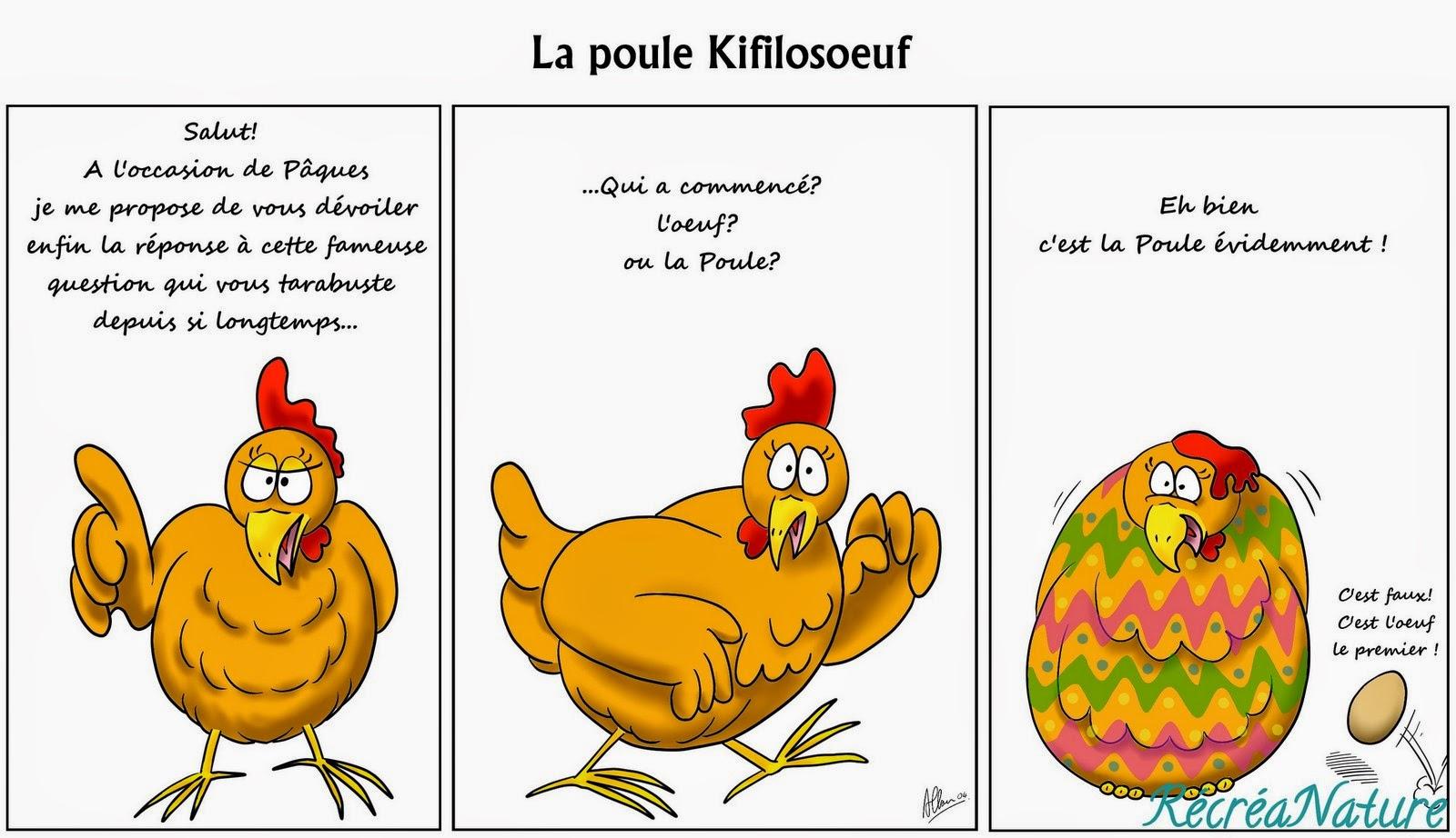 Populaire Dessin du Mois : Bientôt Pâques, La Poule Kifilosoeuf FF79
