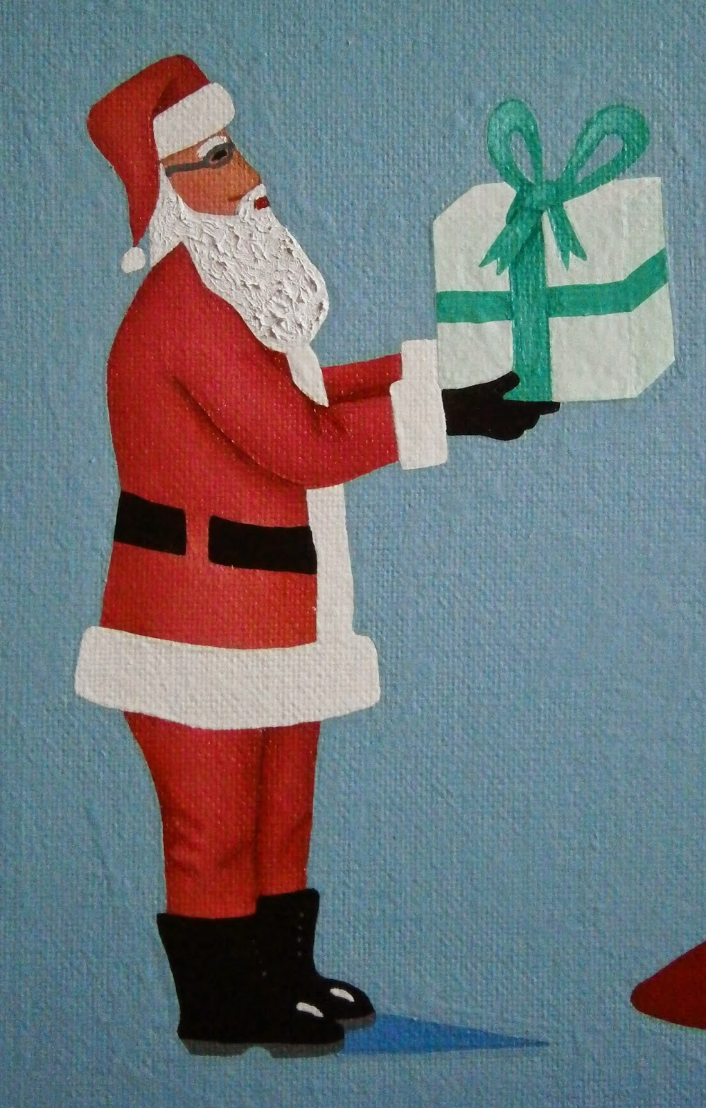 Santa Claus, Saint Nicholas, Father Christmas, Kris Kringle, Santa painted by L. E. Gav Thorpe