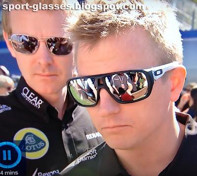 Kimi Raikkonen wearing Oakley Dispatch Sunglasses at the Australian GP 2013