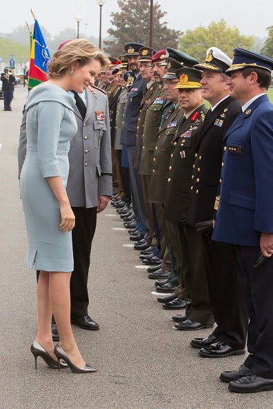 Belgian Queen Mathilde and King Philippe meet General Philip Mark Breedlove during a visit to the Shape, Supreme Headquarters of Allied Command Operations, one of NATO's two strategic military commands, in Mons, 30.09.2014.