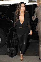 Kim Kardashian in black outfit