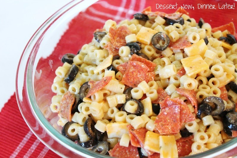 Classic Italian Pasta Salad - Dessert Now, Dinner Later!