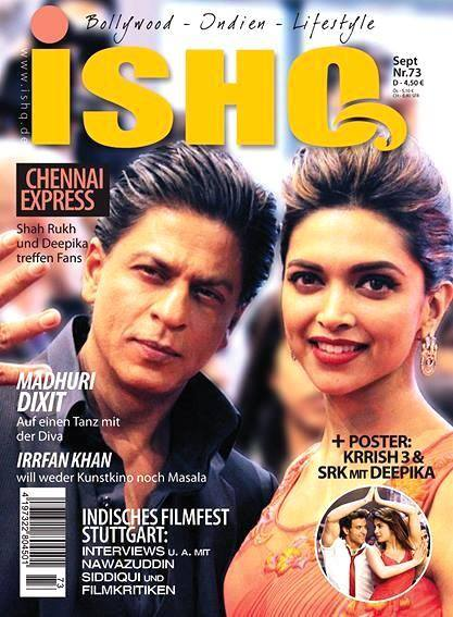 Shahrukh & Deepika Padukone on the cover of Ishq magazine September 2013