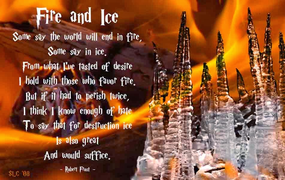 robert frost fire and ice poem theme