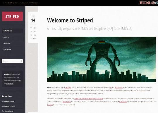 Striped Responsive Html5 Theme
