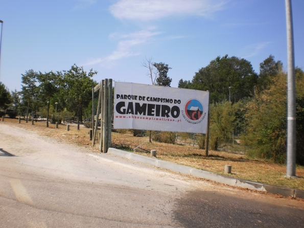 Entrada parque de campismo do Gameiro