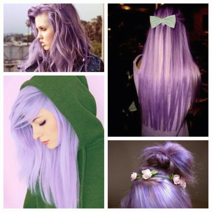 Light purple hair, lavender hair, lilac hair