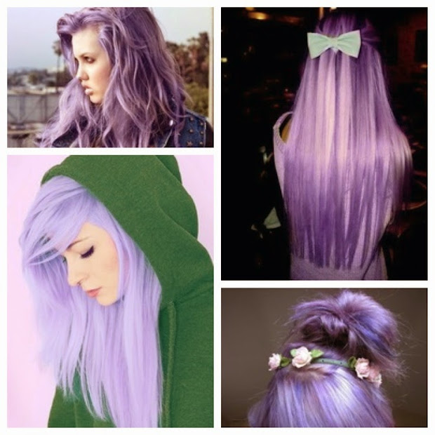 purple hair color ideas - shades