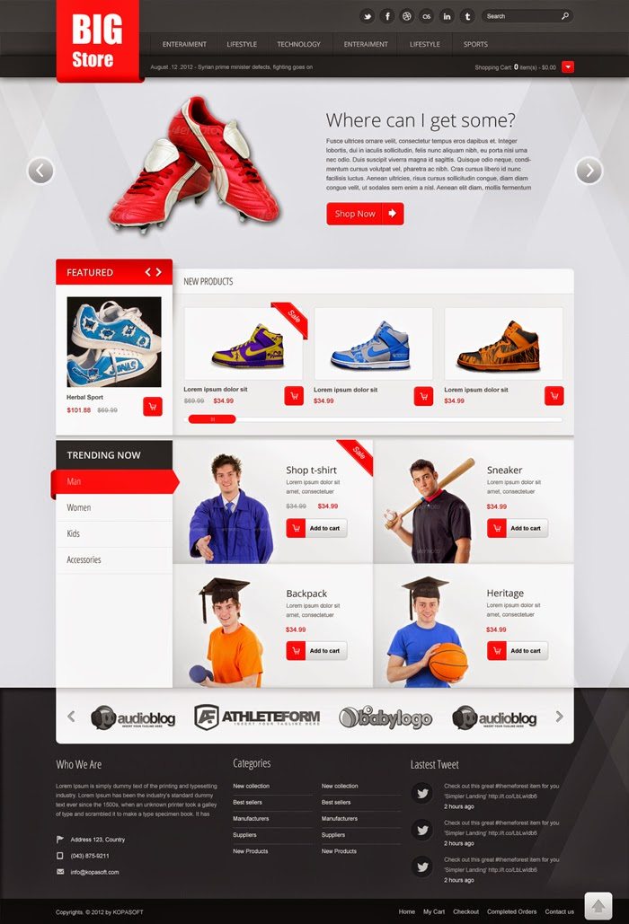 Big Store Ecommerce PSD Template