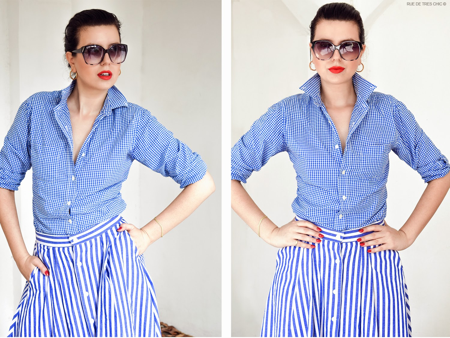 Gingham Fashion Trend 2015 Styling Outfit Ideas 2