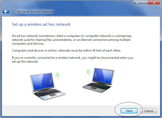 Set up a wireless ad hoc