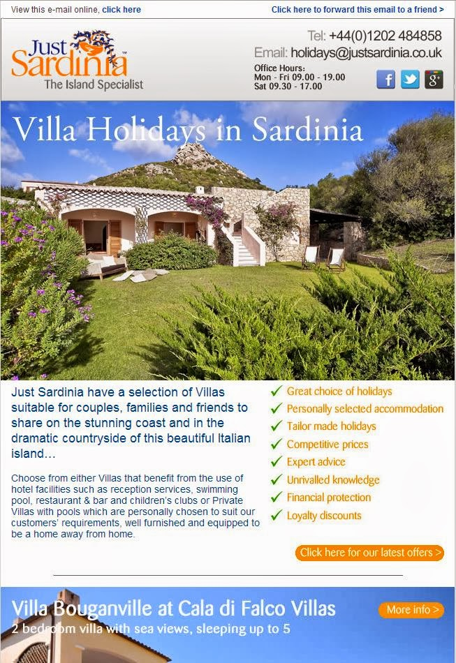 Just Sardinia Villa Holidays