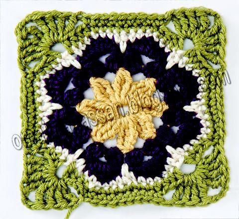 African Flower Written Crochet Pattern : crochet kingdom (E.H): African Flower Motifs Afghan
